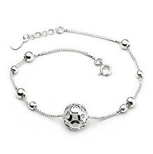 MSF brand SL01 925 sterling silver + 23 K platinum plated classic kids`bracelets free shipping