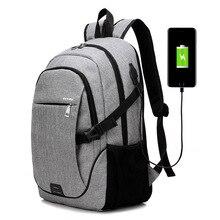 MIWIND USB Laptop Rucksack Multifunktions Reisetaschen Wasserdichte Oxford Schwarz Schultaschen Teenager College Rucksack Männer TCY1087