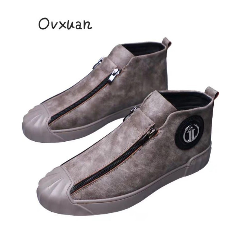 OVXUAN 2019 Fashion Metal Buckle Shell Toe Male Sneakers Men Flats Hip Hop Moccasins Casual Party High Loafers Shoes for MenOVXUAN 2019 Fashion Metal Buckle Shell Toe Male Sneakers Men Flats Hip Hop Moccasins Casual Party High Loafers Shoes for Men