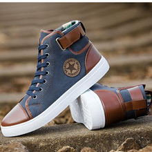 Mens Designer Trainers High Top Men Shoes Canvas Men Casual Shoes Autumn Winter Male Footwear