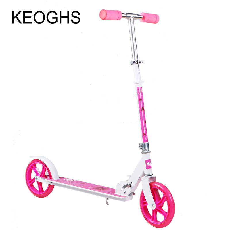 scooter for adult and childrenbaby foldable PU 2wheels bodybuilding outdoor all aluminum urban campus transportation