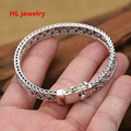 40.2G Alibaba Express 925 Sterling Silver Jewelry Bracelets for Women Men Vintage S925 Solid Thai Silver Chain Bracelets