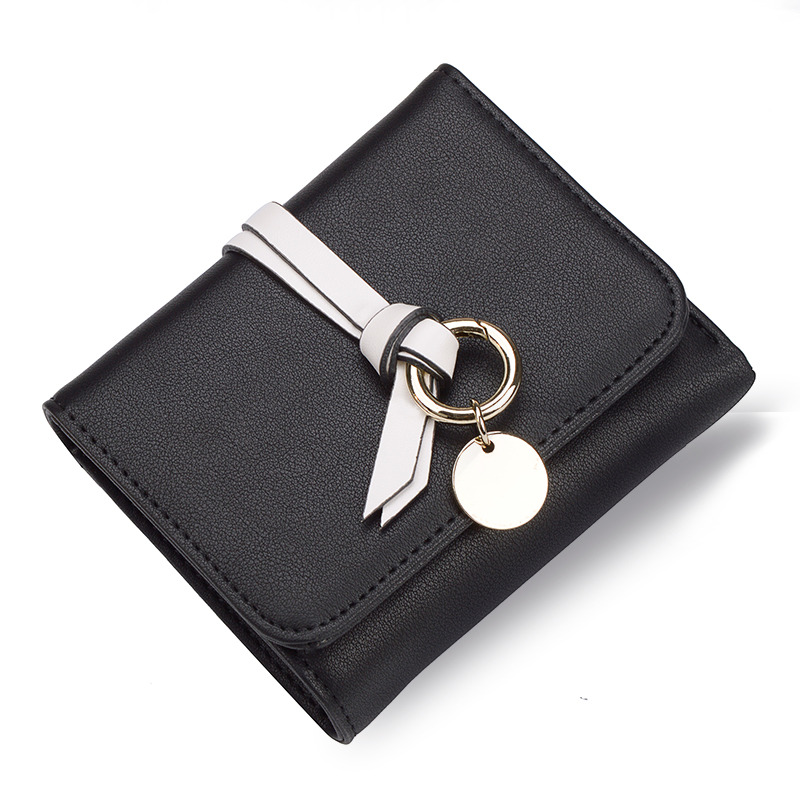 AOEO card holder wallet women best gift female small cute purse for girls 3 fold High capacity vallet with zipper coin purse ...