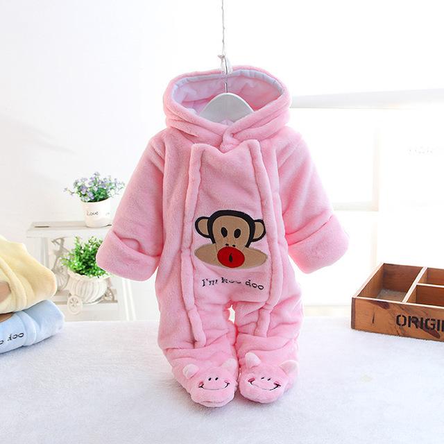 A qualidade superior do Algodão Outono/Inverno Novas Crianças Baby One-piece Roupas Jaqueta Roupa Do Bebê Recém-nascido Pacote Pé escalada roupas