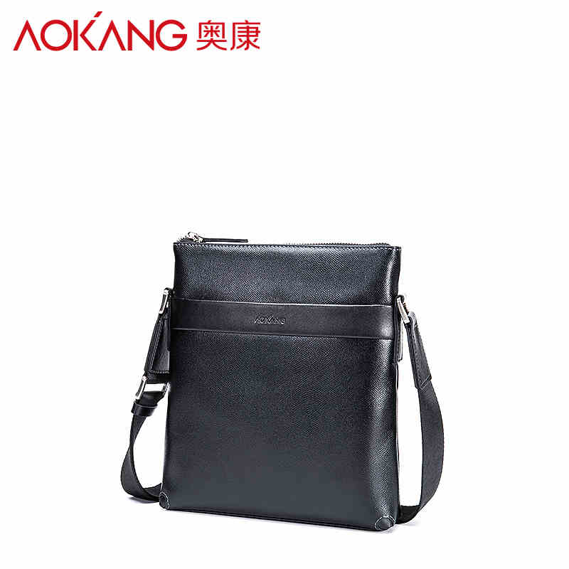 Aokang Top Quality Genuine Leather Men's Shoulder Bags Crossbody bags business bags men message bags free shipping top quality 2 mm machine stitched kendo bogu aizome deer leather men do kote tare free shipping