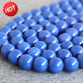 2015 New For Necklace&Bracelet 14mm Blue Shell pearl beads  DIY gift for women girl loose Jewelry making design 15inch Wholesale