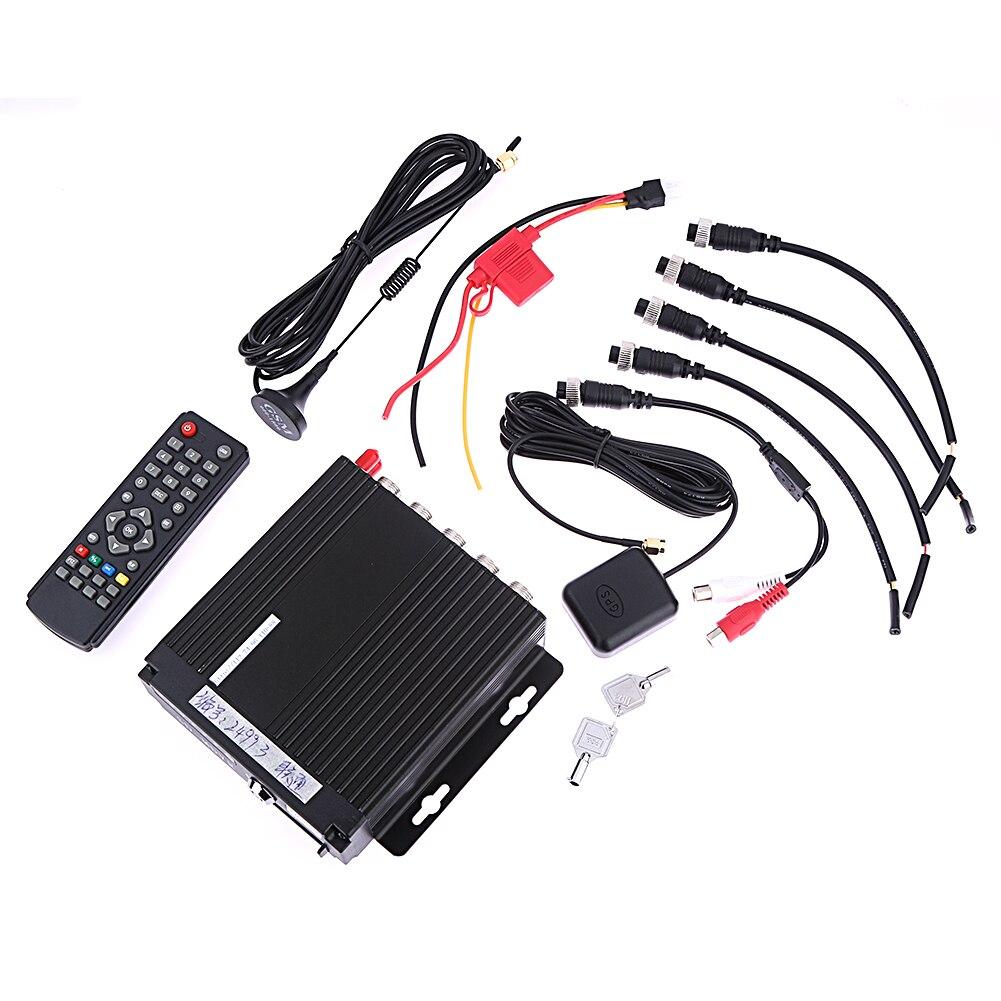 4CH Canal AHD De Voiture Mobile DVR SD 3g Sans Fil GPS En Temps Réel Enregistreur Vidéo DC 12 v DVR Support de Caméra g-capteur Pour Bus Camion