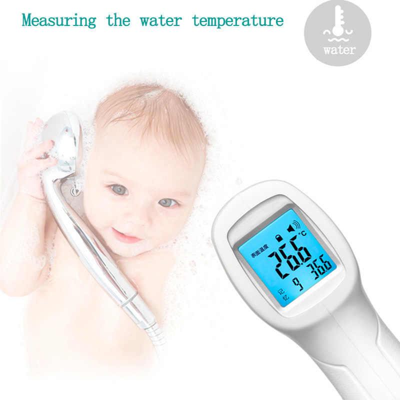 Налобный термометр для младенца для ребенка взрослый Инфракрасный цифровой термометр для тела Бесконтактный пистолет дети температура ЖК-дисплей Backligh