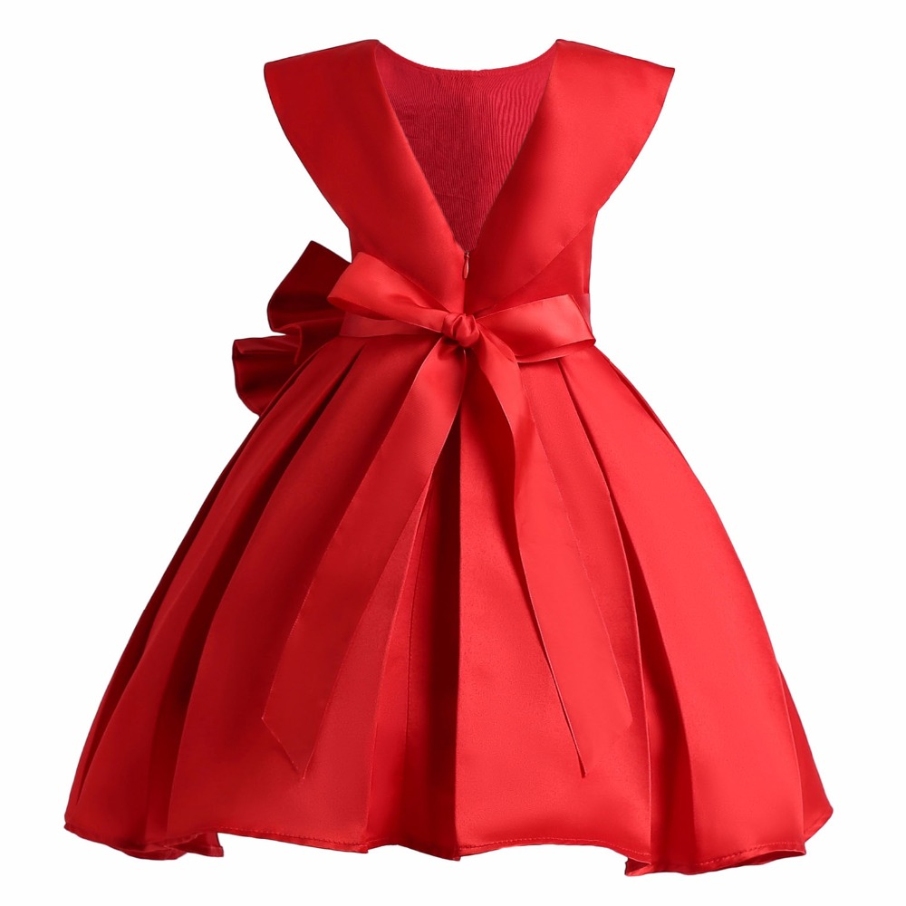 Innovative Pearl Flower Girls Dress Keaiyouhuo Kids Baby Girls Bowknot Princess Dress Girls Wedding Girls Party Dresses Uk Girls Party Dresses 7 16 British Style Dress