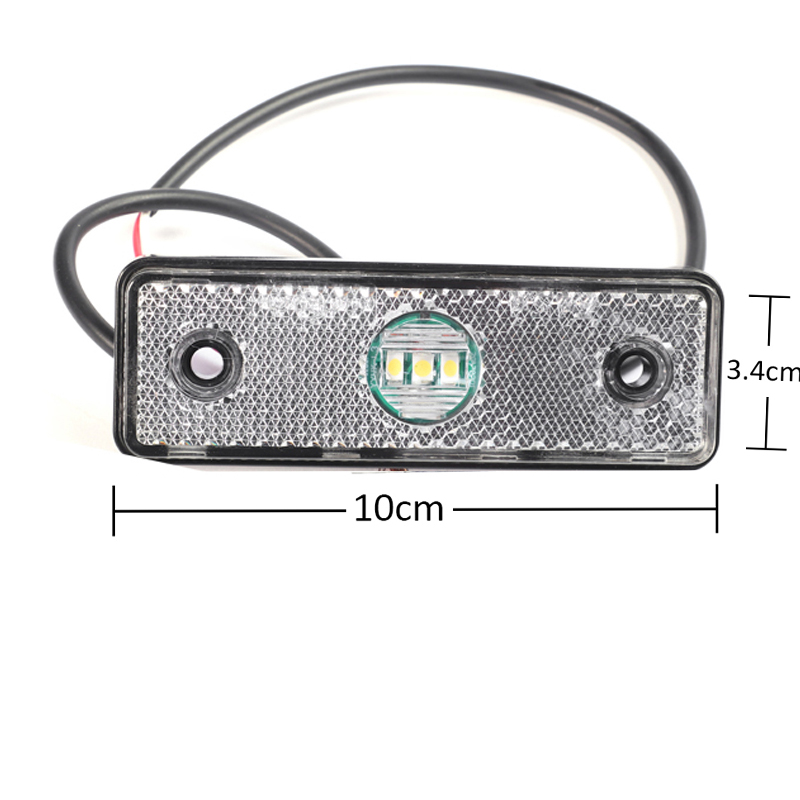 Image 3 - 1 piece 24v LED Trailer side lamp waterproof truck side marker sign light for Truck Lorry Caravan Tractor-in Truck Light System from Automobiles & Motorcycles
