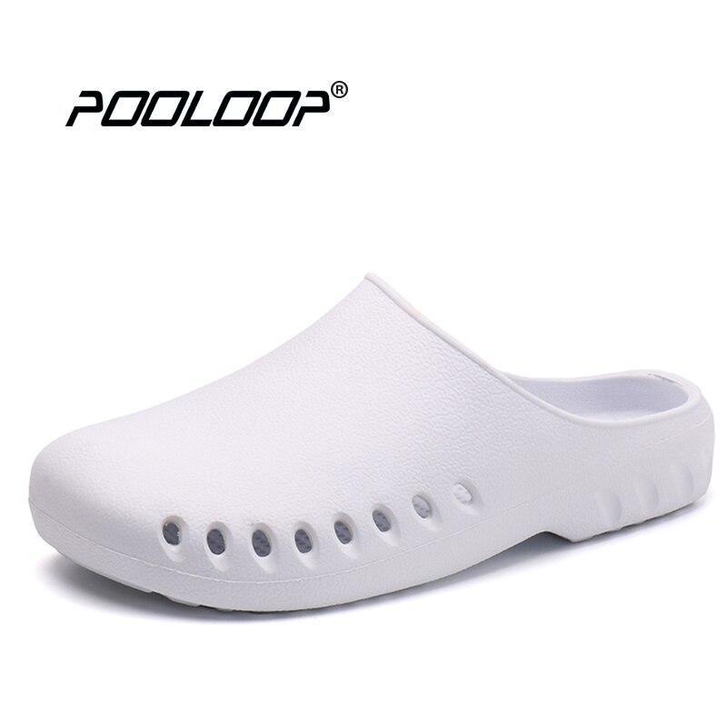 POOLOOP Slip Auf Casual Garten Clogs Wasserdichte Krokus Schuhe Frauen Klassische Pflege Clogs Krankenhaus Frauen Arbeiten Medizinischen Sandalen