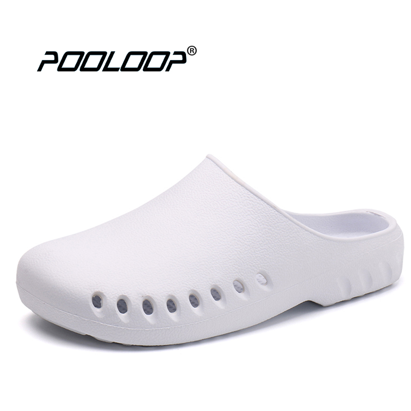 POOLOOP Slip On Casual Garden Clogs Waterproof Crocus Shoes Women Classic Nursing Clogs Hospital Women Work Medical Sandals women s clogs adult shoes lady