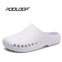 POOLOOP Slip On Casual Garden Clogs Waterproof Crocus Shoes Women Classic Nursing Clogs Hospital Women Work Medical Sandals