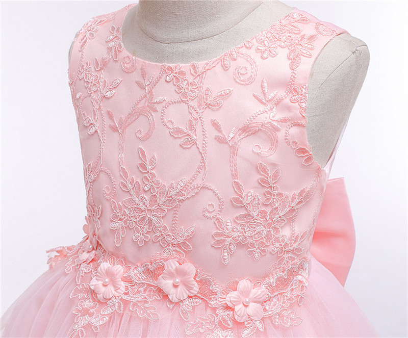 HTB1XWpHe8iE3KVjSZFMq6zQhVXaC - Kids Princess Dresses For Girls Clothing Flower Party Girls Dress Elegant Wedding Dress For Girl Clothes 3 4 6 8 10 12 14 Years