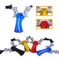 Stainless Steel Powerful Slingshot CatapultWith Flat Rubber Band Slingshot For professional hunting Shooting fishing