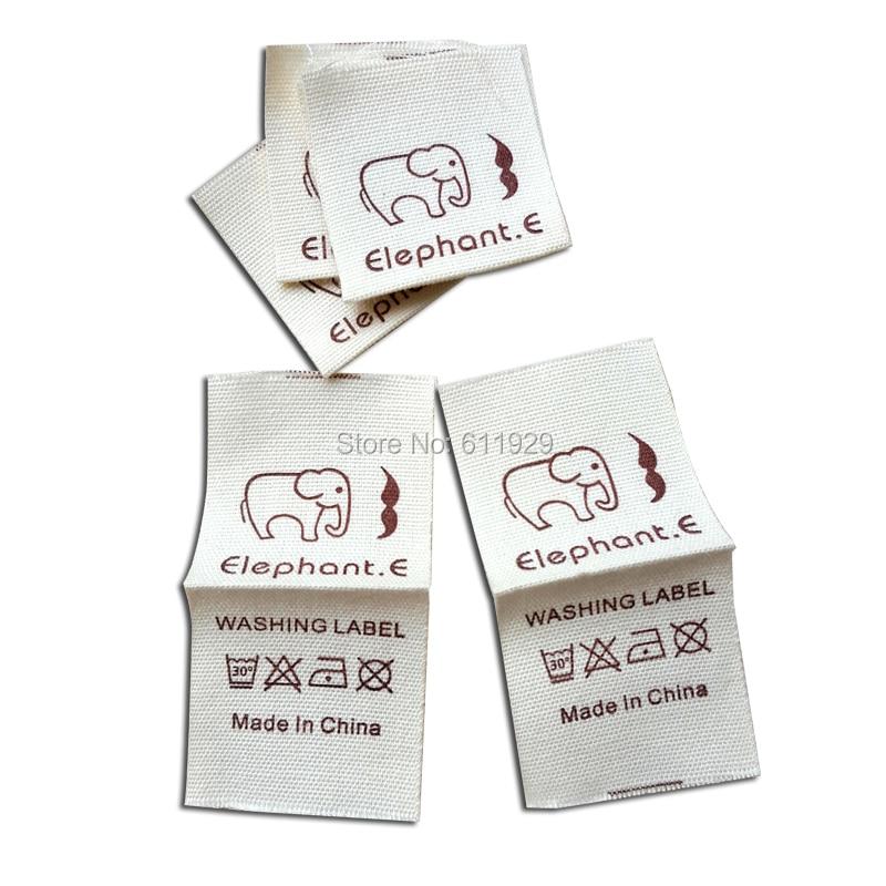 free shipping custom clothing loop fold cotton label cotton tag printing garment main labels shirt labels