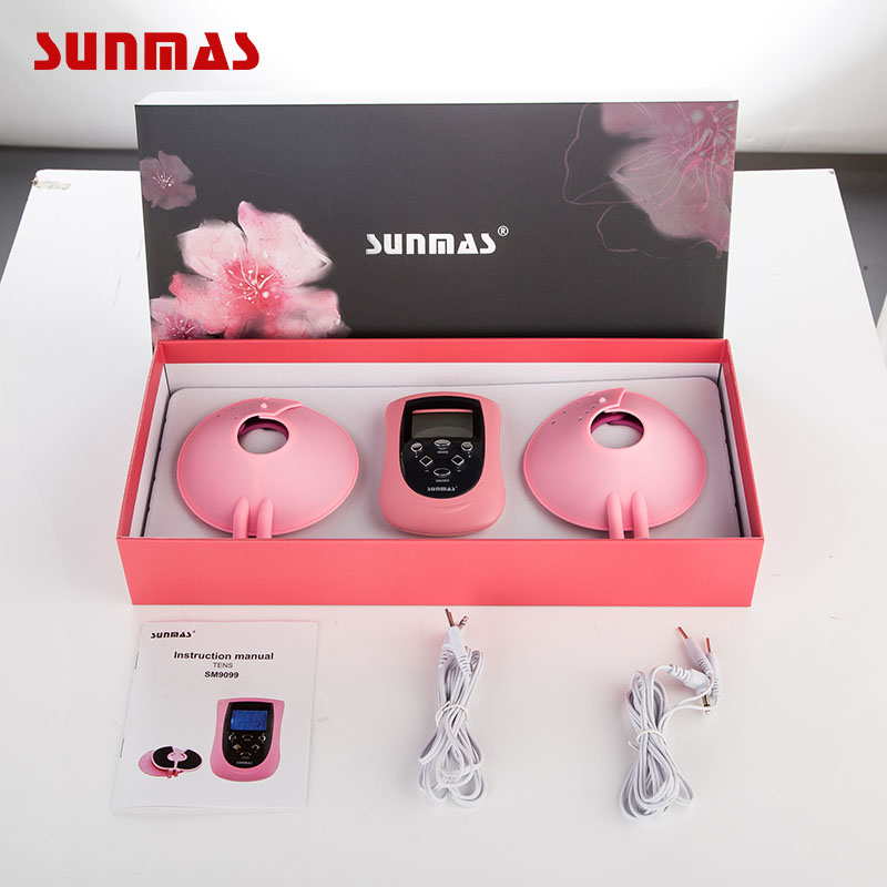 Sunmas Sm9099 Breast Massager 2 Channels Breast Tens Therapeutic