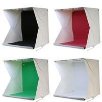 40 40 40cm Mini Foldable Photography Studio Kit 35LED Lights Black Red Green White Backdrips Photo