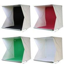 40*40*40 см Складной Мини фотостудия Комплект, 35LED Свет, черный, Красный, Зеленый и Белый Backdrips Фотостудия Box
