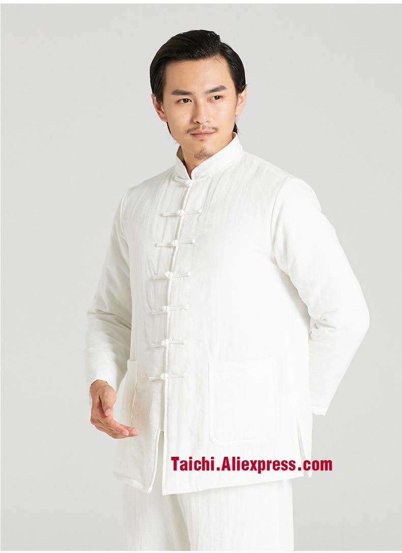 Hiver épaississement art Martial Vêtements Tai Chi Unifrom Coton-rembourré  Taiji costume Lin Wing Chun Uniforme Chinois style vêtements d929a2288eb
