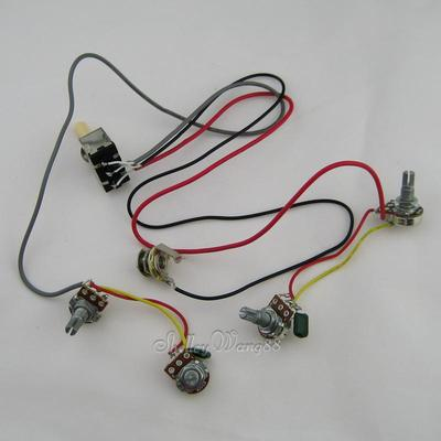 online shop wiring harness prewired 2 volumes 2 tones 4x 500k pots online shop wiring harness prewired 2 volumes 2 tones 4x 500k pots input jack for lp guitar aliexpress mobile