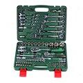 Um conjunto de chaves para o reparo do carro conjunto chave de catraca cabeça soquete universal combinação torque engrenagem chave coleção mão kit ferramenta