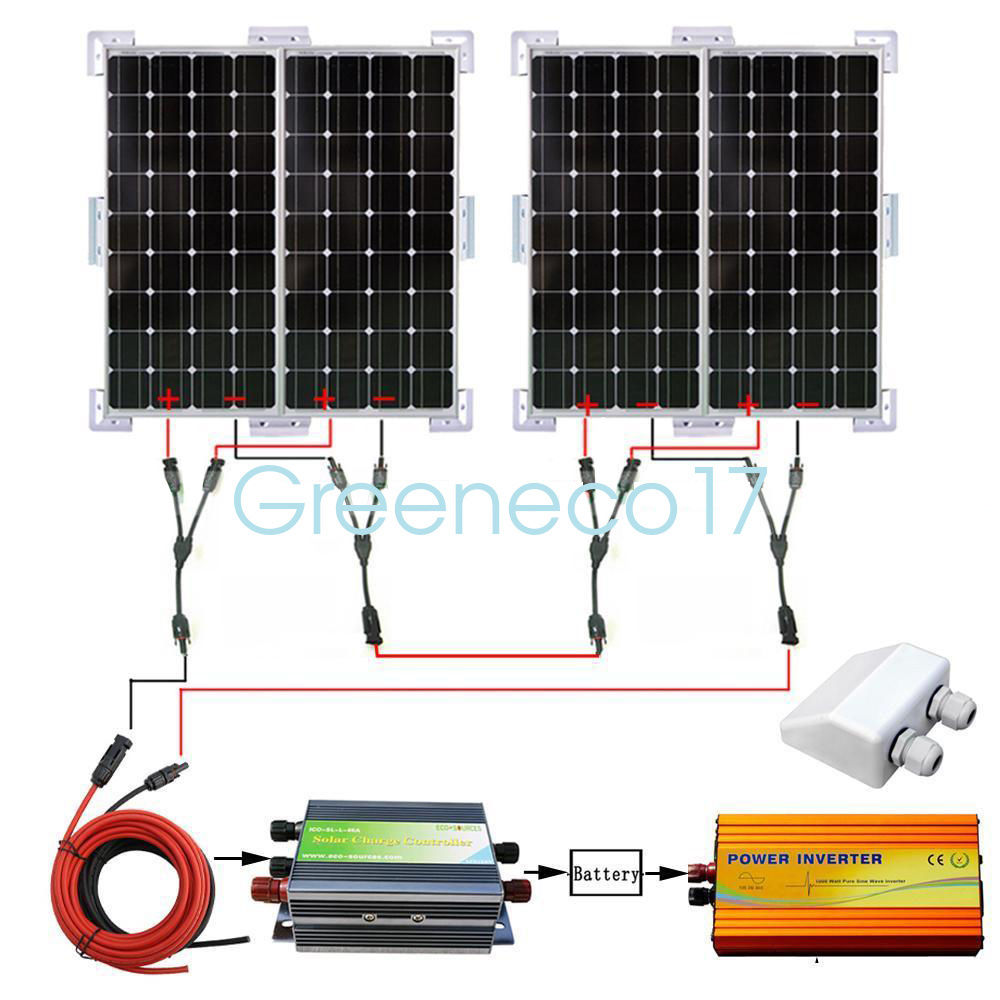 400W Solar PANEL KIT 4*100W Mono Solar panel with 45A controller for RV boat CAMP ggx energy 120 watt portable rv and marine mono folding solar panel kit with 10a solar charge controller