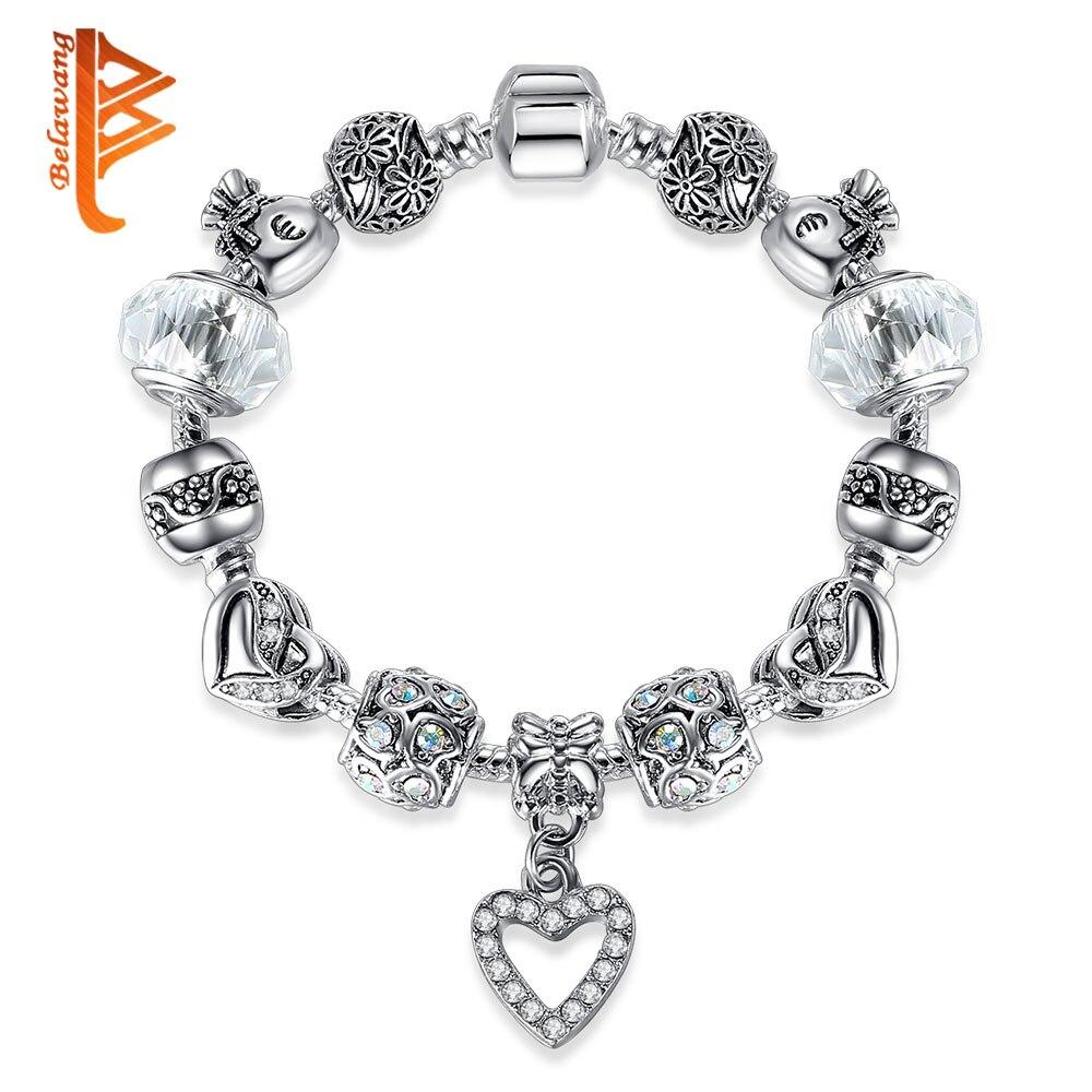 BELAWANG Marca Original Charm Bracelet para Mujeres Con Exquisito - Bisutería - foto 5