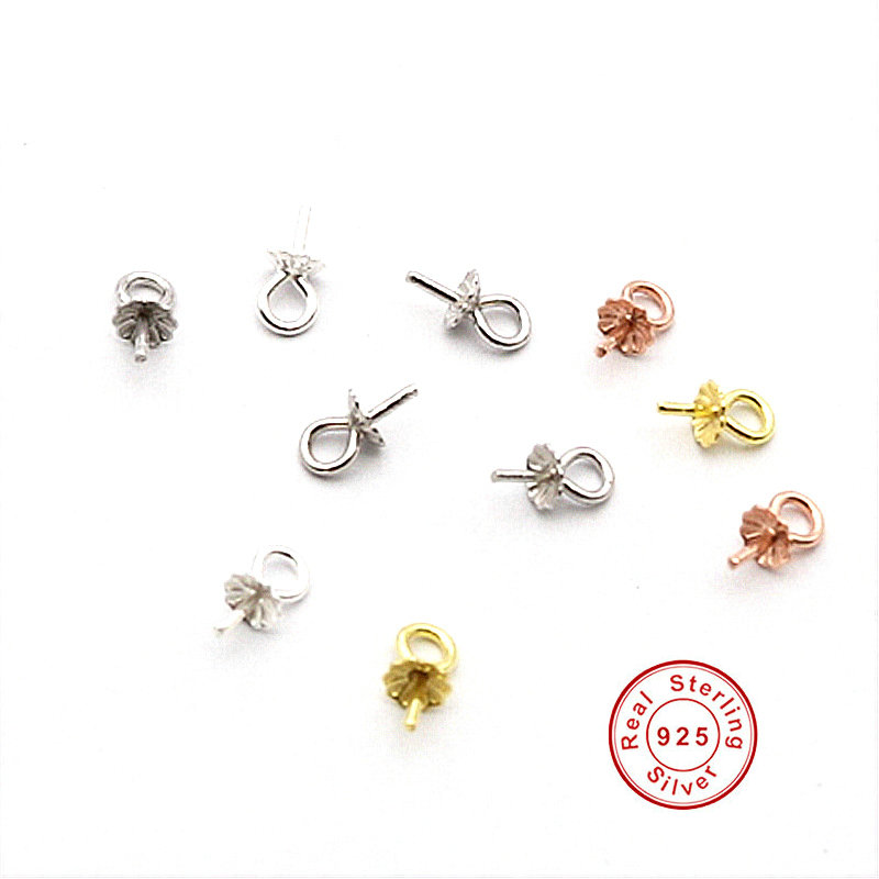 925 Sterling Silver Base For Diy Pearl Pendant  Necklace Fine Jewelry Findings&Components