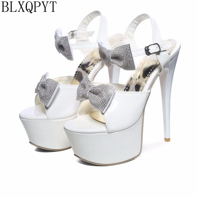 BLXQPYT 2017 new Sandals wedding Party Women Sexy fashion Big Size 31-48 Lady Shoes Super Thin High Heel(16CM) Pumps shoes 204 все цены