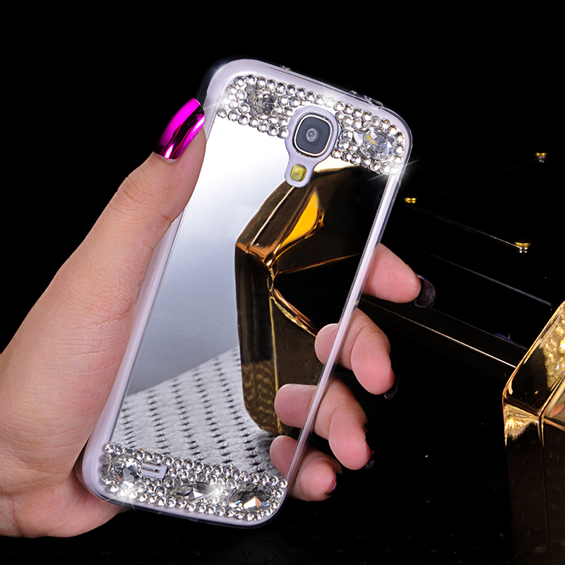 sports shoes ac3b5 4bbce US $6.9 |mirror mobile cover For samsung galaxy s4 i9505 i9500 rhinestone  phone case diamond mirror mobile cases rhinestone mirror female on ...