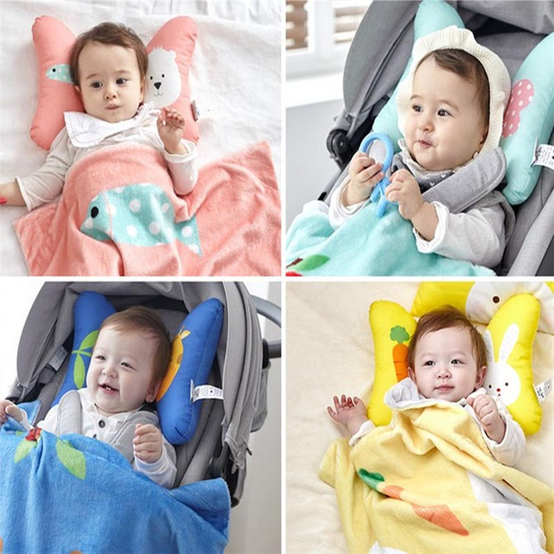 Cute Safety Kids Support Headrest For Car Stroller Seats
