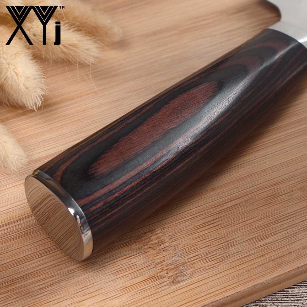 XYj 8 بوصة الشيف سكاكين المطبخ دمشق الصلب سكين الطاهي نمط الجمال خفيفة الوزن جهد اللون الخشب مقبض أدوات الطبخ