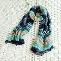 Silk Scarf Shawl bohemian Women Beach Scarves 2016 New Fashion Vintage Style Silk Printed Shawl Long Scarf Wrap Colorful Design