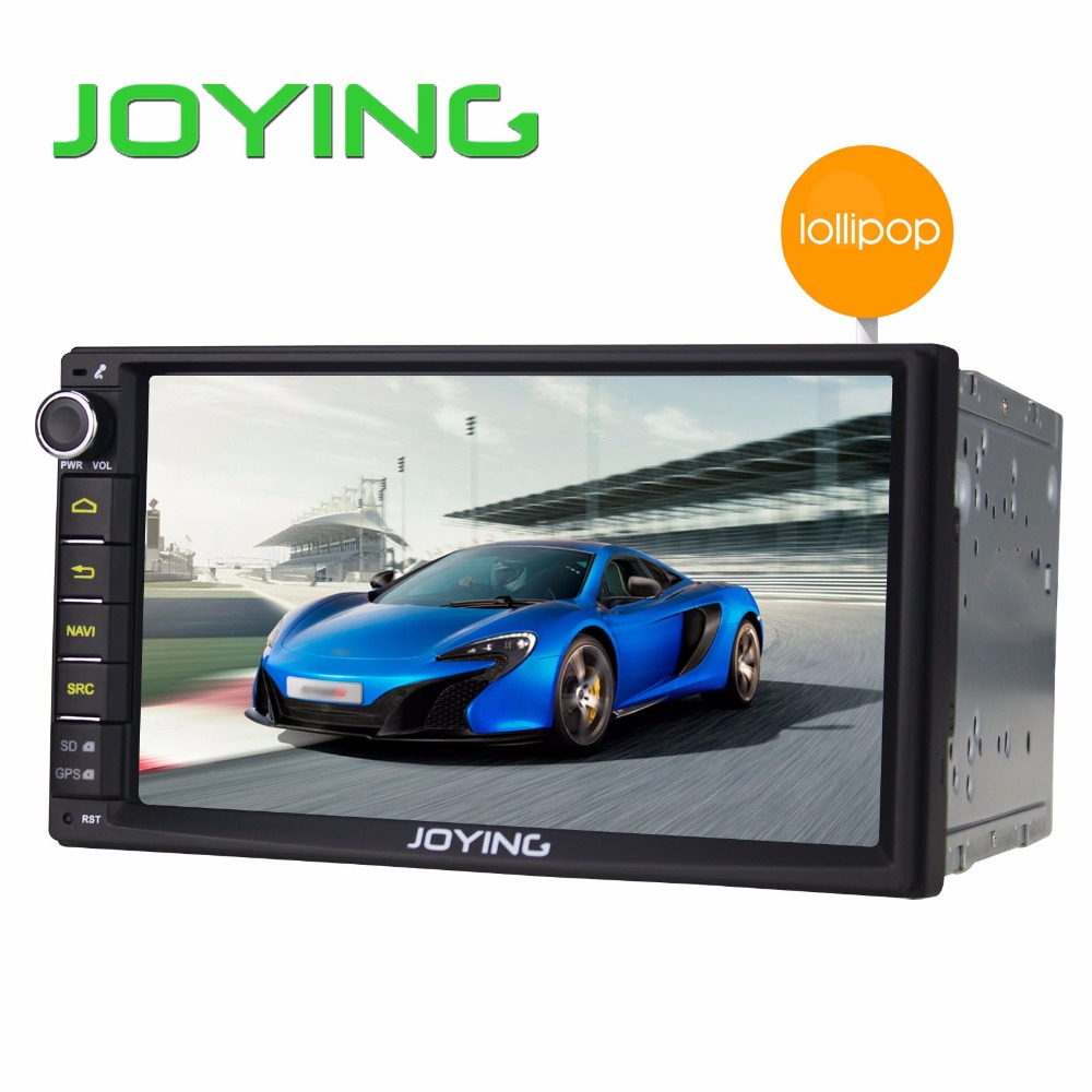 "Joying Double 2 Din Android 5.1.1 Lollipop 7"" Universal Car Radio Quad Core Head Unit 1024*600 HD Car GPS Navigation+Rear Camera"
