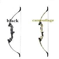Junxing arco de caça  30-40 libras  arco reverso  bonito  caça  tiro ao alvo  preto  mão direita  substituível