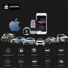 MACTAK car accessories Keyless Entry Comfort System PKE ios Phone APP Remote Start Car Engine Alarm Push  one button start
