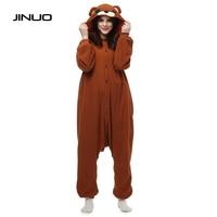 Hot Free Shipping Fashion New Animal Pajamas Cosplay Unisex Pyjamas Adult Sleepwear Costume Sleepsuit Brown Bear