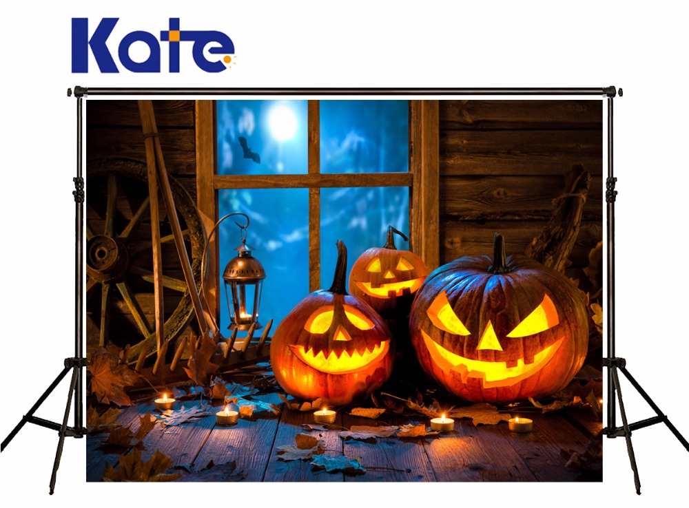 KATE Photo Background Halloween Backdrop Halloween Pumpkin Window Background Wood Floor Backdrop Newborn Photography Props allenjoy background for photo studio full moon spider black cat pumpkin halloween backdrop newborn original design fantasy props