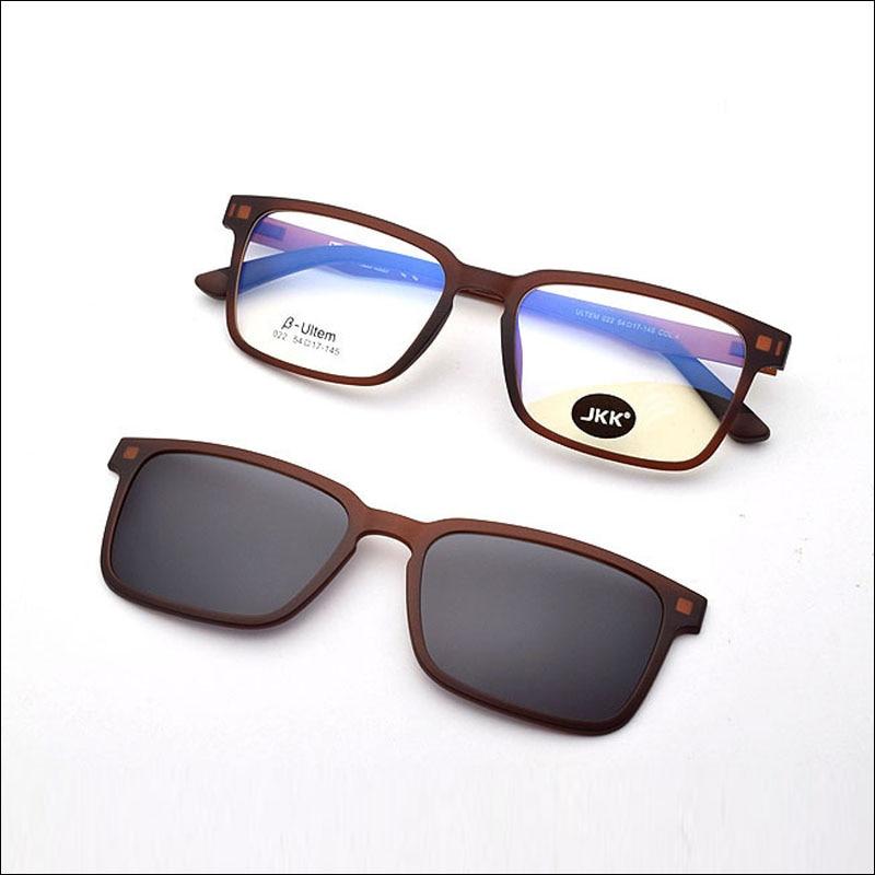 Ultra light Glasses Magnet Clip Sunglasses Myopia Glasses Polarized Sunglasses Functional Ultem Uv 400 Glasses Brown