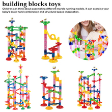 лучшая цена High Quality 109PCS DIY Construction Marble Race Run Maze Balls Track Building Blocks Children Gift Baby Kid Educational Toy