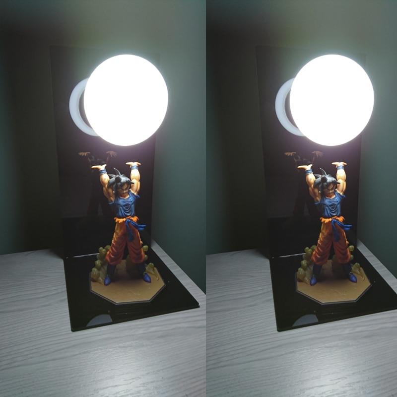 Dragon Ball Z Lamp DBZ Goku Strength Bombs Night Lamp Home Table Decorative Lighting 3D Anime Luminaria Action Figure Lights