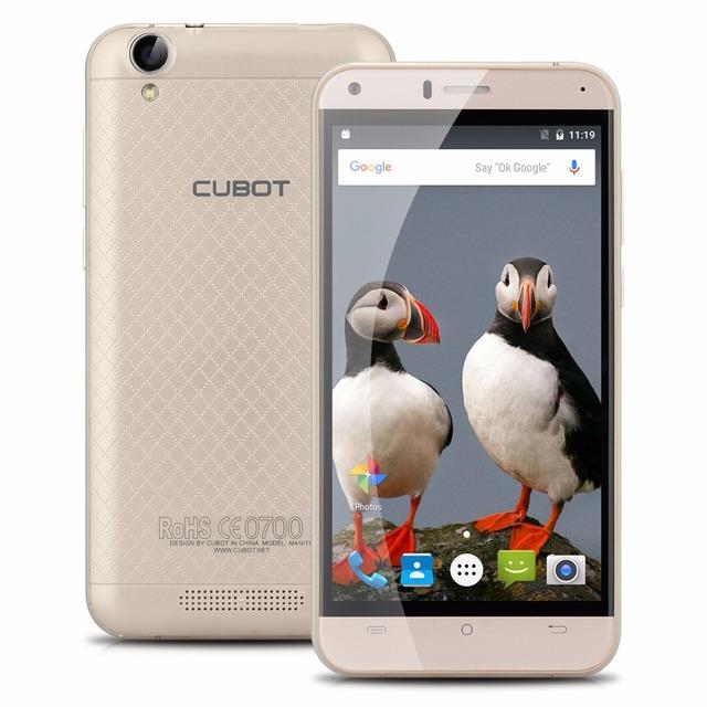 Original Cubot Manito 5.0″ MT6737 Quad-Core Android 6.0 Cell Phones 3GB RAM 16GB ROM Smartphone