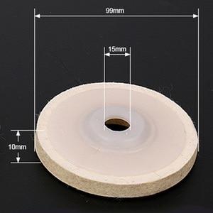 Image 5 - 4 Inch Wool Felt Polishing Abrasive Wheel Angle Grinder Disc Rotary Power Tool Accessories