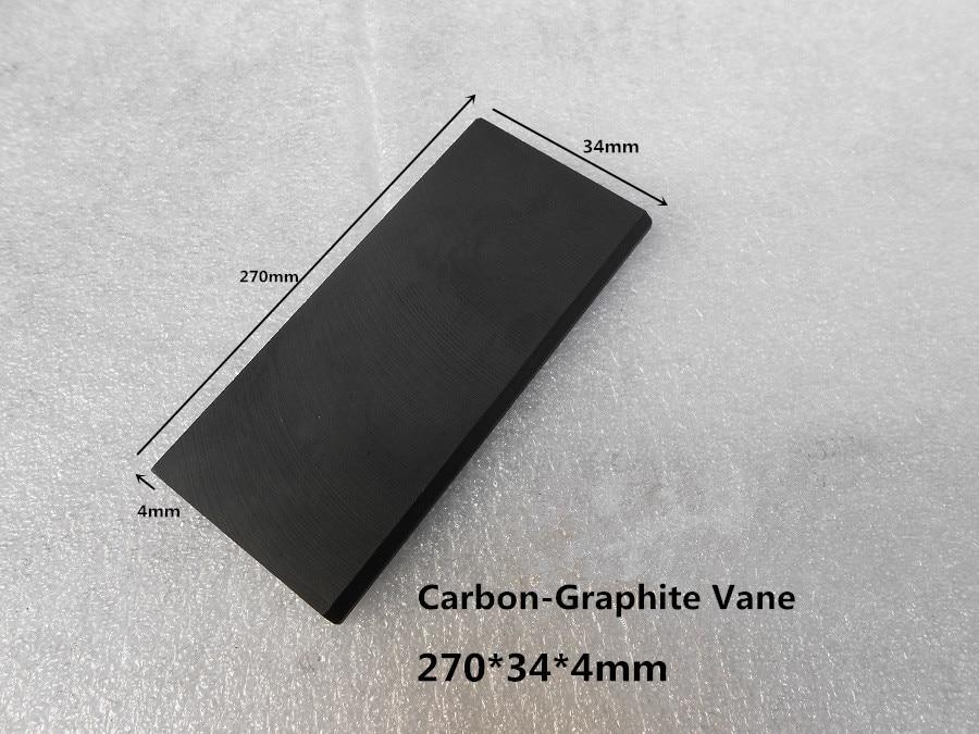 270*34*4mm  Carbon vanes , Vane Blades  ,graphite sheet plate   for Dry Vane Vacuum Pump 6 48 230 mm carbon vane for vacuum pump graphite plate block for vacuum pump becker