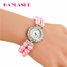 Hot Sale Luxury Pearl Watch Women Ladies Dress Quartz Wrist Watches Female Watch Relogios Feminino