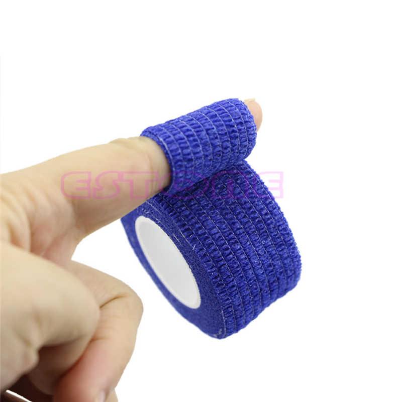 Cinta deportiva de seguridad de kinesiología sintética cuidado del dolor vendaje elástico soporte de los músculos de los dedos protector de la aptitud 2,5 cm #20/25W