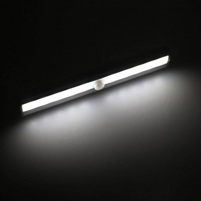 10 LED USB Battery Recharging Wall Lamp Cabinet Wardrobe IR Infrared Motion Detector Wireless Sensor Lighting Closet Night