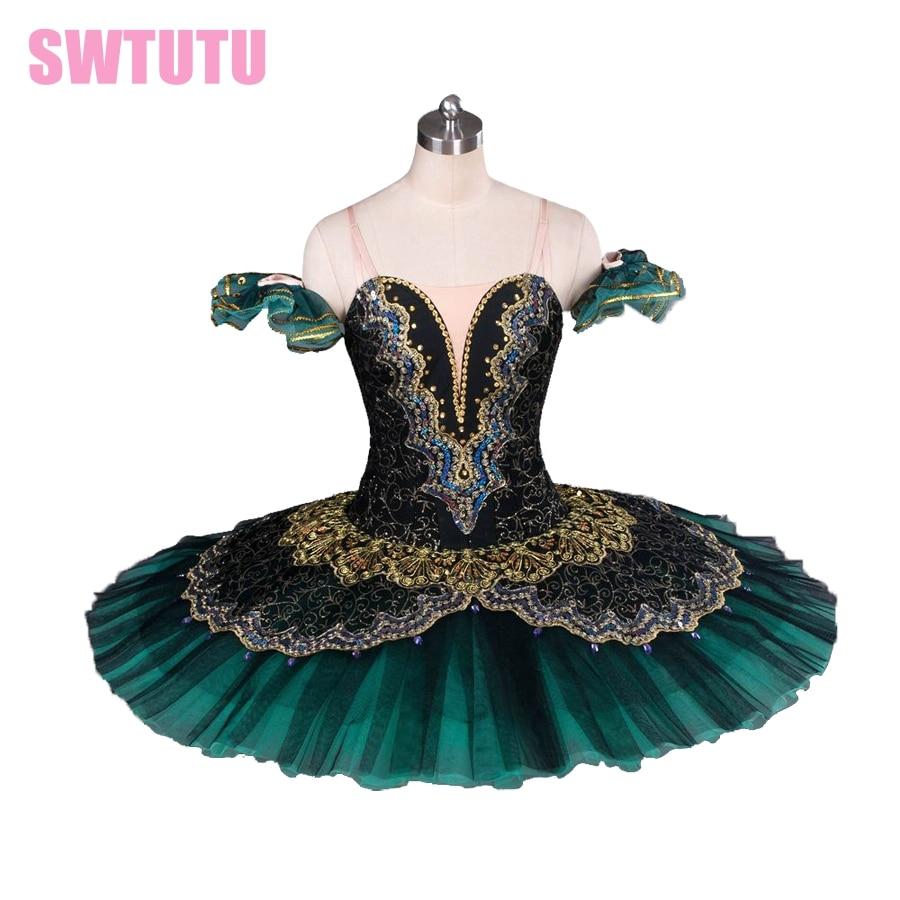 Picture of Adult Black Swan Classical Ballet Tutu Ballet Costume, Red Professional Ballet Tutu,Black Ballet Tutus Performance BT8941