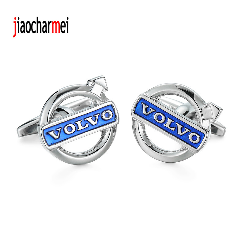 High quality mens shirts Cufflinks new fashion boutique car logo VOLVO cufflinks, French shirt accessories